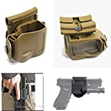 WorldShopping4U NEW Pivote 360 ​​Tactical Glock clip MOLLE / Belt Holster pour Glock 17 19 22 23 (DE)
