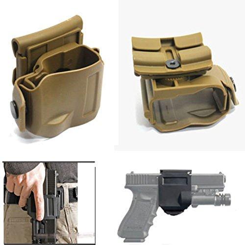 WorldShopping4U New Dreht 360 Tactical Glock Clip MOLLE/Gürtelholster für Glock 17 19 22 23 (DE) (Glock 19 Holster Clip)