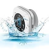 Bluetooth Lautsprecher, HOCOSY Wasserdichte Bluetooth Wireless Lautsprecher, Wasserdicht Level IPX4, Wasserdicht mit Saugnapf, mit Freihändiger Taste, 8 Stunden Spielzeit, 10 Meter Bluetooth Reichweite und Starkem Bass