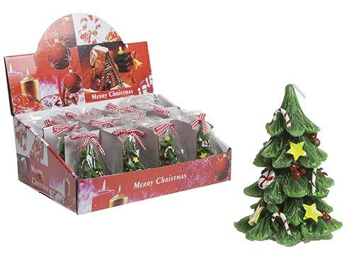 Toyland 9.5cm Verzierte Weihnachtsbaum-Kerze - Weihnachtsdekorationen - Weihnachtskerze