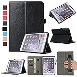 MYTHOLLOGY für ipad Mini/ipad Mini 2 /ipad Mini 3 /ipad Mini 4 Hülle, PU-Leder Tablet Schutzhülle Tasche mit Handschlaufe und Kartenschlitz, Standfunktion Hülle - Schwarz