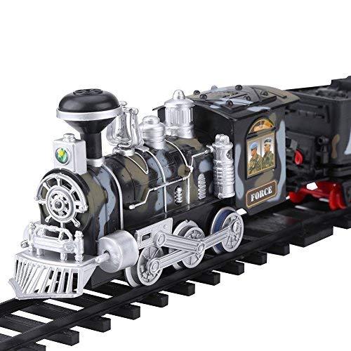 RC Humo de Vapor Militar Tren, Eléctrico Fumar Tren de Juguete Control Remoto Recargable Vehículo Modelo …