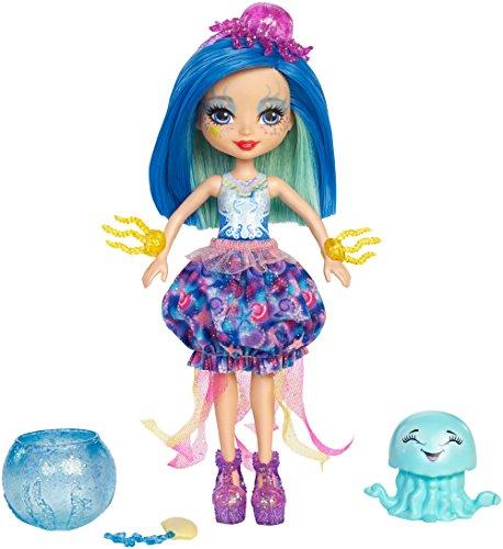 Enchantimals FKV57 Quallenmädchen Jessa Jellyfish mit Farbwechsel (Lust Kleidung Kind)