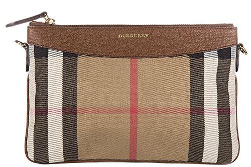 Burberry Pochette Handtasche Damen Tasche Clutch mit Schulterriemen peyton beige (Burberry Handtasche Canvas)