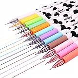 Lumanuby 12 Stück Aquarell Stift Kunststoff Material Milch Kühe Muster Design Kugelschreiber 0,38 mm Spitzendurchmesser Pen Geeignet für Unterschriften/Schreiben/Markieren, 12 Farbe