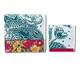 Desigual 17WHWT23 Confezione di Asciugamani Diversi, Cotone, Multicolore, 150x95x0.5 cm