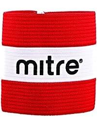 Mitre Captain - Brazalete de capitán para hombre, color escarlata, ...