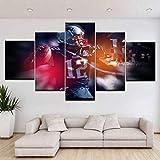 YKBSY Gedruckte Leinwand Poster Wandbild, Fußball Sport Gemälde American Football Star, 30x40cm(2Stk.) 30x60cm(2pcs) 30x80cm kein Rahmen