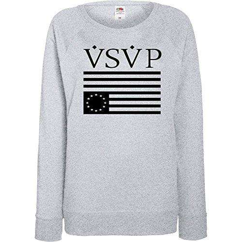 TRVPPY - Sweat Pull, modèle VSVP - Femme, différentes tailles et couleurs Gris