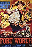Fort Worth (1951) - Region Free PAL, plays in English without subtitles by Randolph Scott