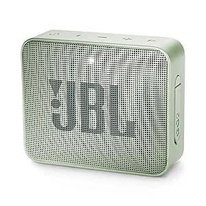 JBL Go 2 Portable Waterproof Bluetooth Speaker with mic (Seafoam Mint)