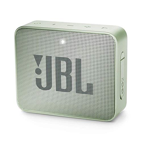JBL GO 2 kleine Musikbox in Mint (Wasserfester, portabler Bluetooth-Lautsprecher mit Freisprechfunktion - Bis zu 5 Stunden Musikgenuss mit nur einer Akku-Ladung)) -
