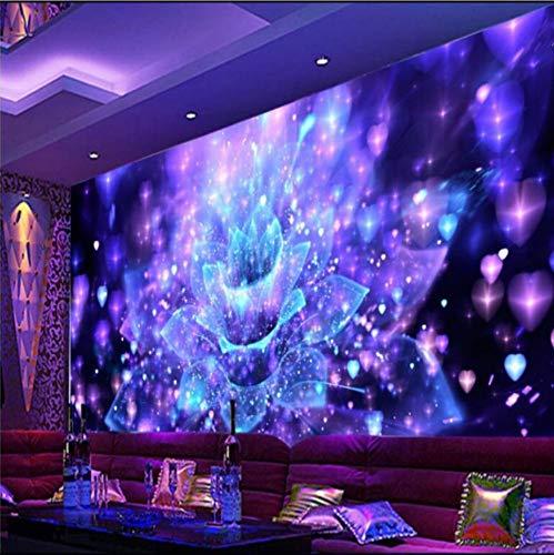 Personalisierte 3D-Stereotapeten Coole Nachtclubs Flower Bar Tv 3D Wohnzimmer Hintergrundbild Seidentuch