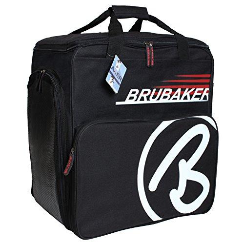BRUBAKER Super Champion Skischuhtasche Helmtasche Skischuhrucksack Rot Schwarz (Super-reißverschluss-stiefel)