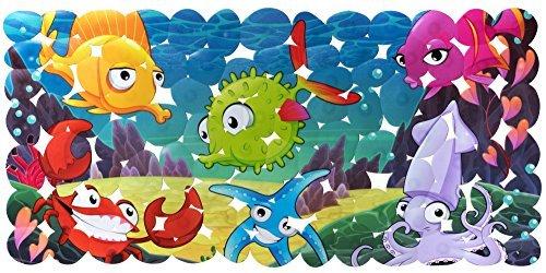 Rutschfest Baby Badematte für Kinder–kein Geruch, Schimmel/Schimmel resistent, antimikrobiell, latexfrei, plastik, blau, 14Wx28L