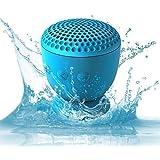Whitlabel Drop Bluetooth Lautsprecher Mini Waterproof Speaker with Silicone Suction Portabler wasserfest Speaker (Blue)