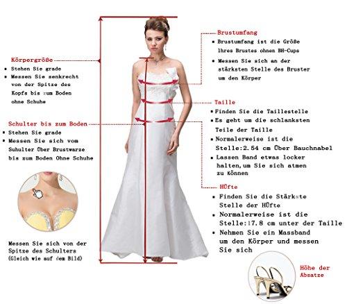 Prom Style Damen Attraktiv Spitze Chiffon Neckholer Abendkleider Ballkleider Cocktailkleider A-Linie Lang Partykleider Tanzenkleider Lila