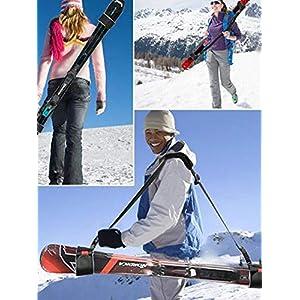 Ecisi Einstellbarer Ski- und Stangenträgergurt Premium Tragbarer Schulterträger Snowboardgurt Langlebig für den Skisport im Freien