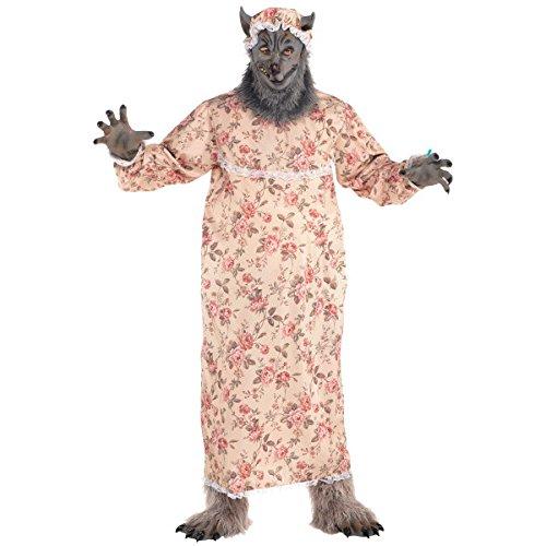 Rotkäppchen Großmutter Wolf Kostüm Erwachsene Amscan