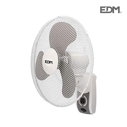 Ventilador de pared 45W 40cm 3 velocidades con mando a distancia EDM...