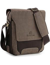 Koolertron Mens Canvas Pu Shoulder Bag Handbags Briefcase For The Office Messenger Large Enough