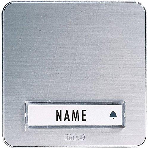 m-e modern-electronics KTA-1 A/S Klingelplatte mit Namensschild 1fach Silber 12 V/1A
