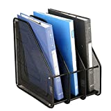 Divinezon 3 Tier Multipurpose Metal Mesh Folder/Magazine/Book Stand/Document Holder for Office Desk.