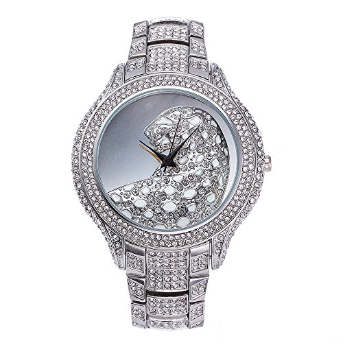 Sheli-Womens-Extra-Large-Silver-Tone-Designer-Leopard-Embossed-Dial-Bling-Diamonds-Watch