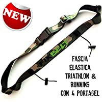 Race belt number clip triathlon, running, cycling, 6 loops for energy gel, utility belt high quality,Militar colour