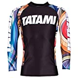 Tatami Essential Psychedelic Rash Guard Black Compression No Gi Jiu Jitsu MMA Sold by MinotaurFightStore (Large)