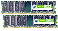 Corsair 2GB (2x1GB) DDR2 667 MHz (PC2 5300) Desktop Memory (VS2GBKIT667D2)