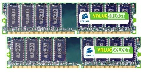 Corsair VS2GBKIT400C3 Value Select 2GB (2x1GB) DDR 400 Mhz CL3 (400mhz Pc3200 Ddr-sdram)