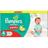 Pampers - Baby-Dry Pants - Couches Taille 4 (8-15 kg/Maxi) - Megapack (x72 couches)