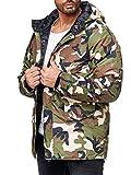 Redbridge Herren Parka Jacke Übergangsjacke Camouflage mit Kapuze M6039 Gr.L