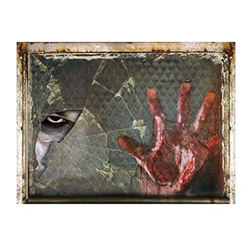 Danigrefinb Halloween Party Peeping Auge Bloody Hand Aufkleber Wand Dekoration Horror Aufkleber ()