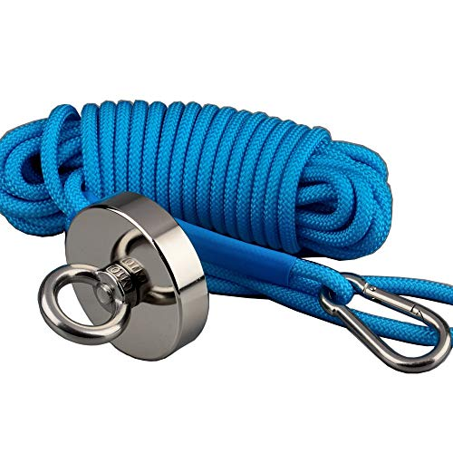 mutuactor Super Strong 200kg Vertikal magnetisch Pull Force Neodym Angeln Magnet-Set mit Seil