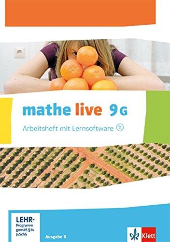 mathe live 9G: Arbeitsheft mit Lösungsheft und Lernsoftware Klasse 9 (G-Kurs) (mathe live. Bundesausgabe ab 2014)