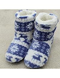 ZLULU Zapatillas de estar por casa De Invierno De Casa De Interior para Niñas Contton Calientes