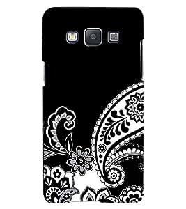 Citydreamz Black\White Traditional Pattern\Rangoli Design Hard Polycarbonate Designer Back Case Cover For Samsung Galaxy A5