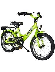BIKESTAR® Original Premium Kinderfahrrad für sichere und sorgenfreie Spielfreude ab 4 Jahren ★ 16er Classic Edition ★ Brilliant Grün