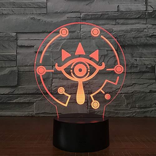 on Zelda 3D Tischleuchte Link Zelda Atem des Wilden Links Nachtlicht 7 Farbwechsel Visuelle Illusion Licht ()