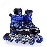 Hi-Widze Inline Skating L (38-43) Size Adjustable All Pure PU Wheels of Aluminum-Alloy (Hi-Widze-Blue)- Design May Worry