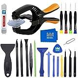 MMOBIEL Kit 24 in 1 Professionale pinzette e cacciaviti di Riparazione Ventosa per Tablet e Smartphone compatibili