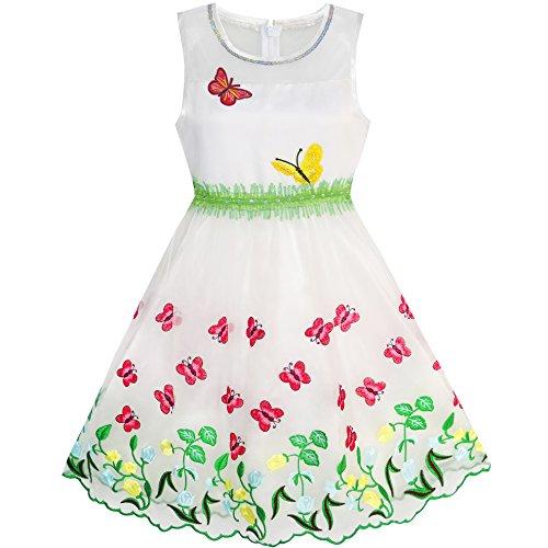 Sunboree Mädchen Kleid Schmetterling Gr. 110