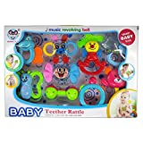 Rachna's Non-Toxic Baby Teether Hand Rattle Toys Set - 60861 - 9 Pieces