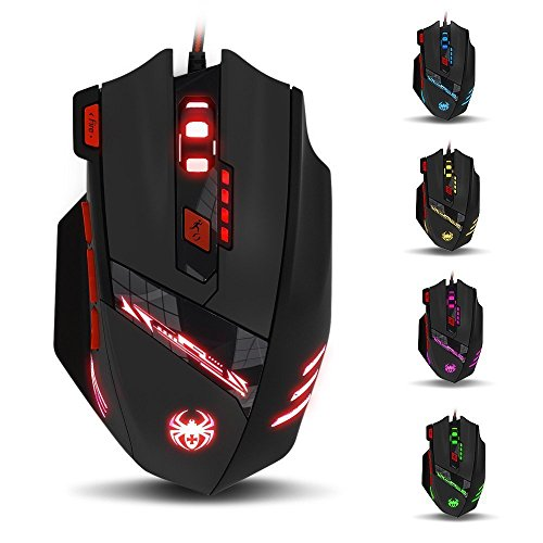 KingTop Gaming Maus für Pro Gamer 9200dpi mit 8 Tasten,LED,USB-Wired Maus optisch - 4
