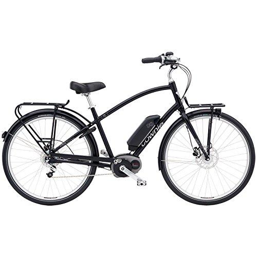 Electra Townie Commute Go Herren Elektro Fahrrad 28 Zoll Beach Cruiser Retro Rad 8 Gang Schaltung, 54602, Farbe Schwarz