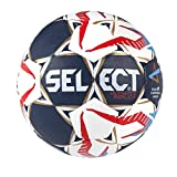 Select 1670850 Ballon de Handball Mixte Adulte, Blanc/Bleu/Rouge, 1