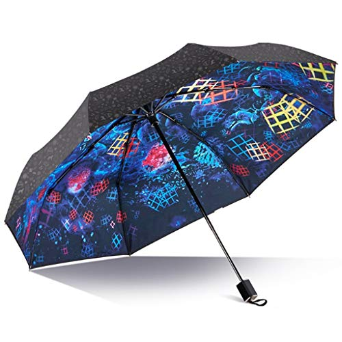 Nvfshreu Doppel Vinyl Sonnenschirme Regenschirme Uv Schutz Klapp Sonnenschirme Regenschirme Dual Einfacher Stil Use (Farbe Damen Männer Vintage Classic Chic Geschenke Umbrella