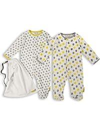 The Essential One - Unisex Baby Schlafanzuge/Schlafanzug/Einteiler/langarmeliger Body/ Strampler (2-er Pack mit Beutel) - ESS156